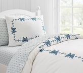 Pottery Barn Kids Windsor Embroidered Butterfly Duvet Cover