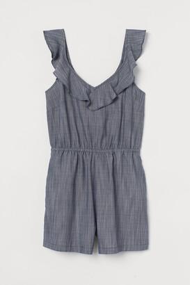 H&M Flounce-trimmed playsuit