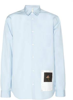 Oamc Andre Printed Cotton-Poplin Shirt