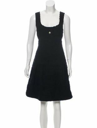 Chanel 2017 Fantasy Tweed Dress Black