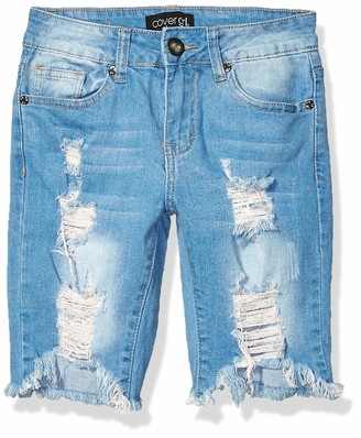Cover Girl Ripped Bermuda Shorts Distressed Destroyed Juniors Plus Size