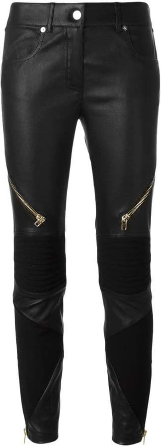 Givenchy zipped biker trousers