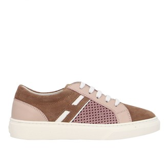 Hogan 340 Sneakers In Leather And Perforated Suede With Big H