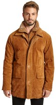 Excelled Men's Excelled Double-Collar Suede Jacket