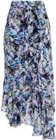 Thumbnail for your product : Preen Line Daria Asymmetric Floral-print Crepe De Chine Midi Wrap Skirt