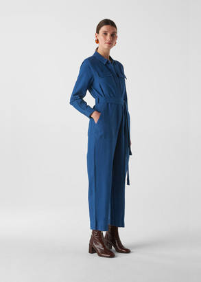 Pia Utility Denim Jumpsuit