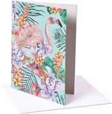 Matthew Williamson Pack of 6 Flamingo Print Greeting Cards