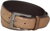 Stacy Adams Men's 32mm Genuine Leather Lizard Skin Print Belt With Brushed Nickle Buckle