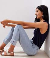 LOFT Modern Striped Cargo Pocket Skinny Jeans