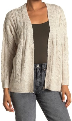 Heartloom Relaxed Fit Front Zip Cable Knit Cardigan