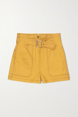 3.1 Phillip Lim Belted Cotton-twill Shorts - Mustard