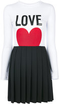 Love Moschino Love print dress - women - Cotton/Polyester/Spandex/Elastane - 36