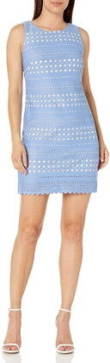 Brinker & Eliza Women's Laser Cut Shift Dress (Regular & Petite)
