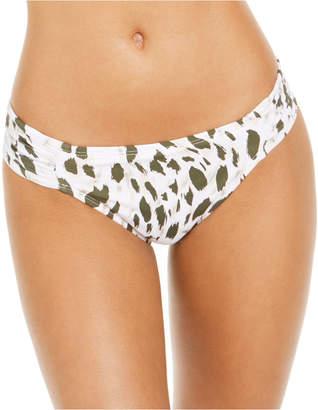 La Blanca Brush Stroke Printed Shirred Bikini Bottoms Women Swimsuit
