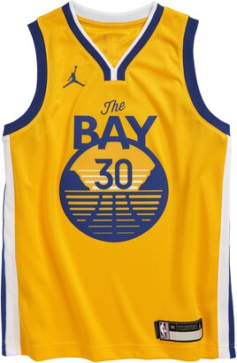 Jordan Dri-FIT Kids' NBA Golden State Warriors Stephen Curry Icon Edition Jumpman Jersey