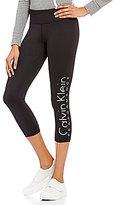 Calvin Klein Side-Leg Logo Cropped Legging