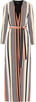 Badgley Mischka Striped Crepe Jacket
