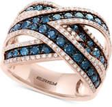 Effy Bella Bleu by Diamond Crisscross Statement Ring (1-3/4 ct. t.w.) in 14k Rose Gold