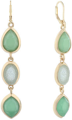 MONET JEWELRY Monet Jewelry Hollywood Vine Green Drop Earrings