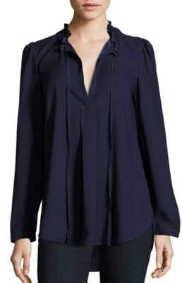 Parker Solid Long Sleeve Blouse