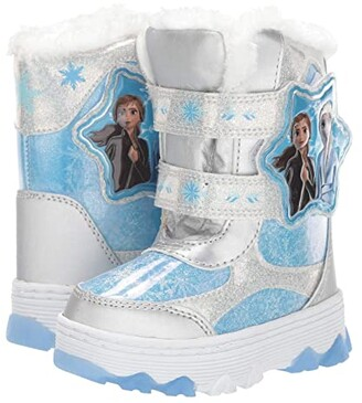 Josmo Kids Frozen Snow Boots (Toddler/Little Kid) (Silver/Blue) Girls Shoes