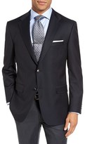 Hickey Freeman Men's Beacon Classic Fit Wool Travel Blazer