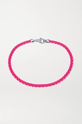EÉRA Giada White Gold, Diamond And Enamel Anklet - Pink