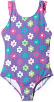 Hatley Flower Garden Ruffle One-Piece Swimsuit (Toddler/Little Kids/Big Kids)