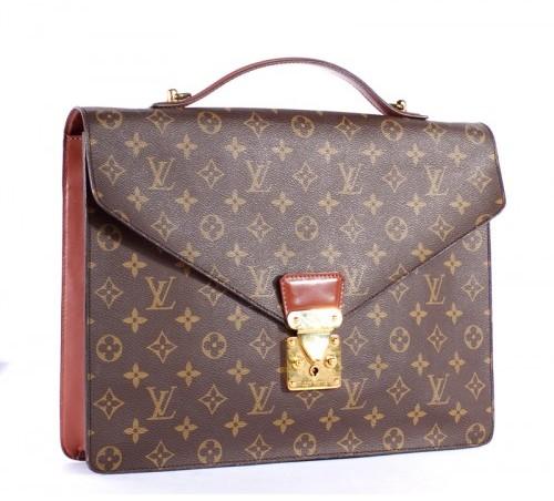 Louis Vuitton very good (VG Monogram Canvas 1 Compartment Briefcase Bag