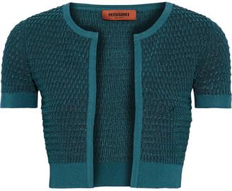 Missoni Cropped Crochet-knit Cardigan