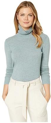 Pendleton Merino/Cashmere Turtleneck (Silver Trout) Women's Clothing