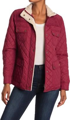 Lauren Ralph Lauren Short Quilted & Corduroy Fleece Trimmed Jacket