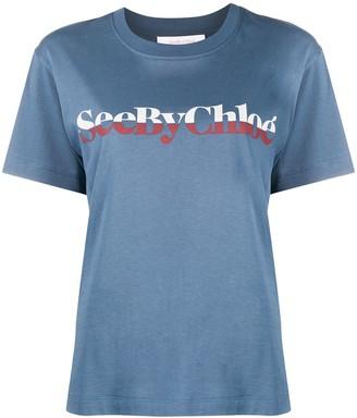 See by Chloe short sleeved logo T-shirt