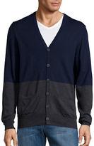 Black Brown 1826 Colorblocked Merino Wool Cardigan