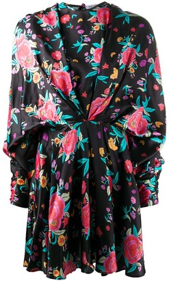 ATTICO ruched style floral print dress
