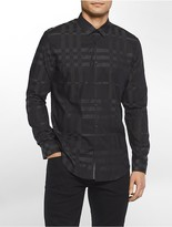 Calvin Klein Slim Fit Plaid Jacquard Shirt