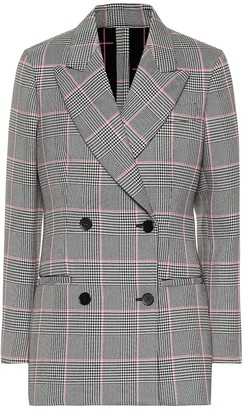 MSGM Check double-breasted blazer