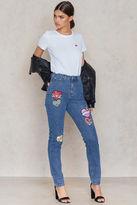 Glamorous Heart Printed Jeans