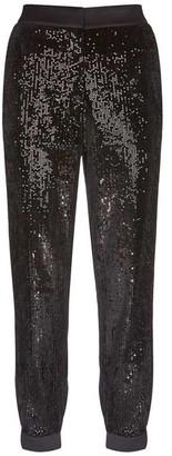 Mint Velvet Black Sequined Trousers