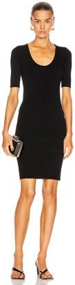 Helmut Lang Link Dress in Black & Neon Pink | FWRD