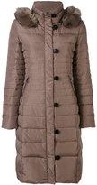 Armani Jeans fur collar padded coat - women - Feather Down/Acrylic/Modacrylic/Polyester - 38