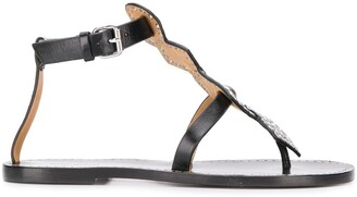 Isabel Marant Eyelet-Embellished Flat Sandals