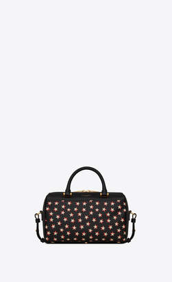 Saint Laurent Duffle 6 Duffle Baby In Smooth Leather With A Star Print Black Onesize