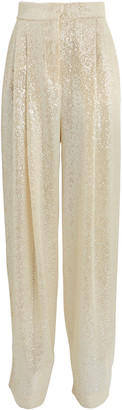 Philosophy di Lorenzo Serafini Sequined Wide-Leg Pants
