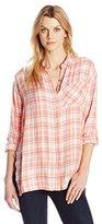 Calvin Klein Jeans Women's Long Sleeve Plaid Shirt