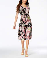 NY Collection Petite Pleated A-Line Dress