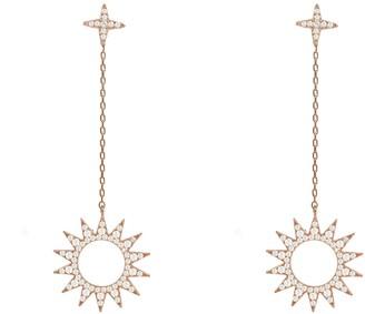 Rosegold Day & Night Sun Earrings