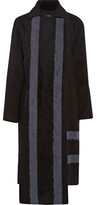 Tibi Asymmetric Wool-Blend Coat