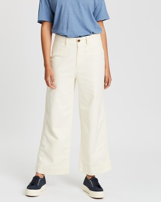Gap Solid Wide Leg Chinos