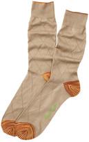 Robert Graham Mikhail Tonal Argyle Crew Socks